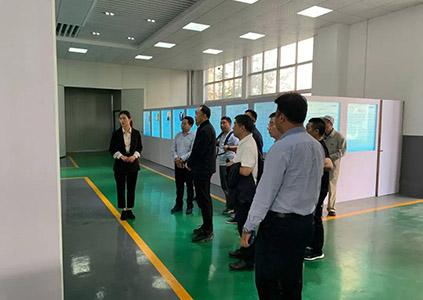 台州市黄岩区领导及企业家代表莅临雄鹰股份参观交流