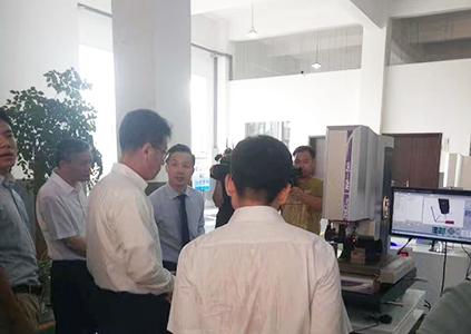 2017年08月中央国家副部长、国家外专局张局长参观雄鹰股份